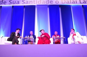 On stage with the Dali Lama