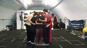 dance mindfulness in a circle
